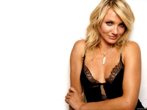 ক্যামেরন দিয়াজ দেওয়ালপত্র probably containing attractiveness, a bustier, and a portrait entitled Cameron Diaz