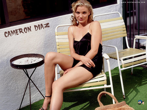 Cameron Diaz karatasi la kupamba ukuta possibly with a maillot and a leotard called Cameron Diaz