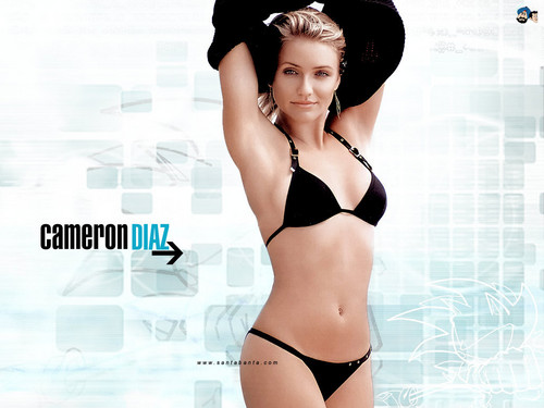Cameron Diaz kertas dinding containing a bikini called Cameron Diaz