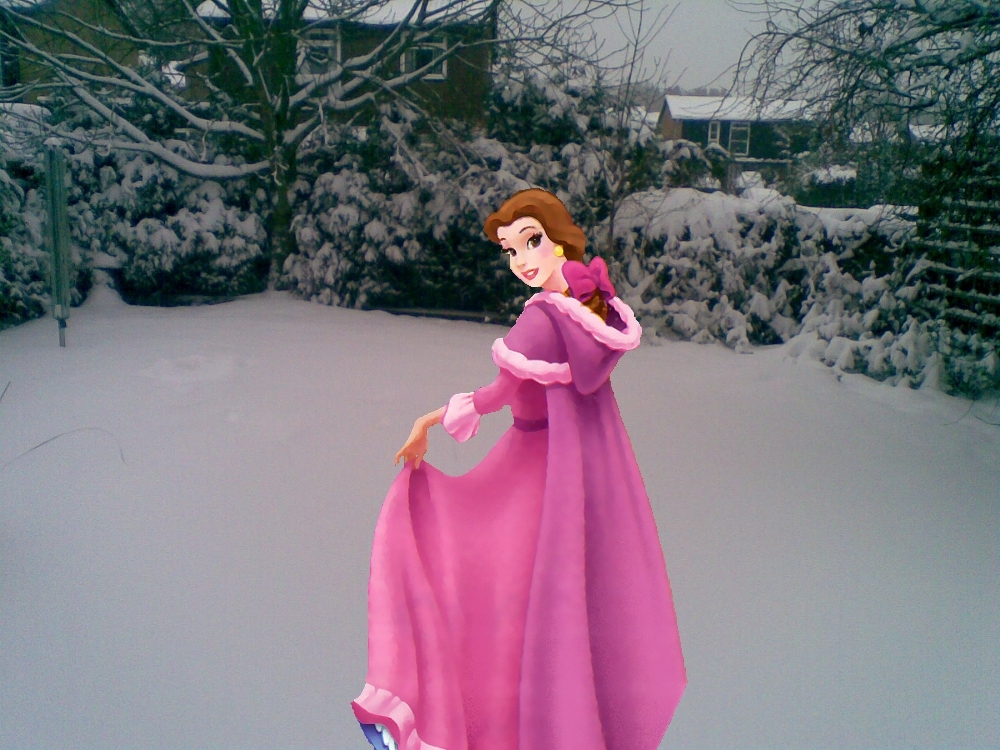 Principesse Disney Wallpaper Possibly Containing A Kirtle Veste Called Natale Time With Belle