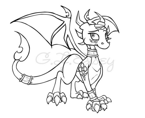 Cynder Lineart