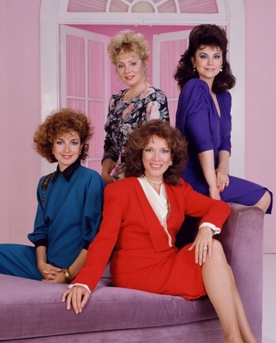 Golden Girls VS Designing Women wolpeyper probably with a sopa and a trono titled DW Four