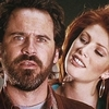film horror foto containing a portrait titled Dennis Miller & Angie Everhart in Bordello of Blood