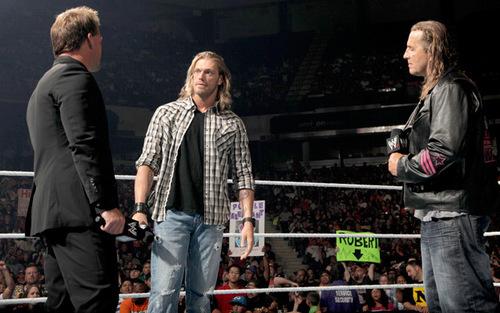 Edge , Chris Jericho and Bret Hart