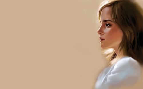 Emma Watson Art kertas dinding