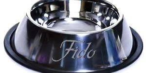 Fido bowl made sa pamamagitan ng Rose for Jackob (who read the book, would understand) LOL