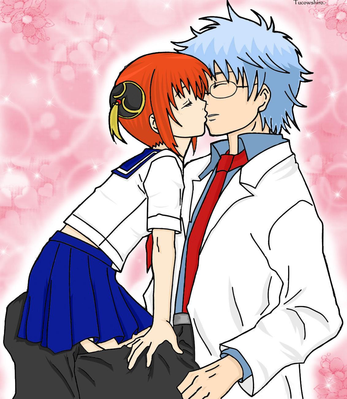 Gintoki x Kagura Gintoki x Kagura Kiss Gintoki And Kagura