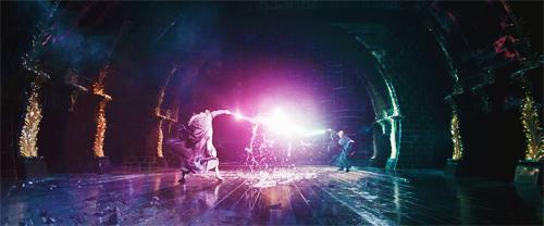 Dumbledore & Voldemort duel :))