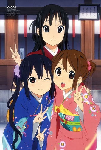 K-ON! 壁纸 containing 日本动漫 entitled Happy New Year~