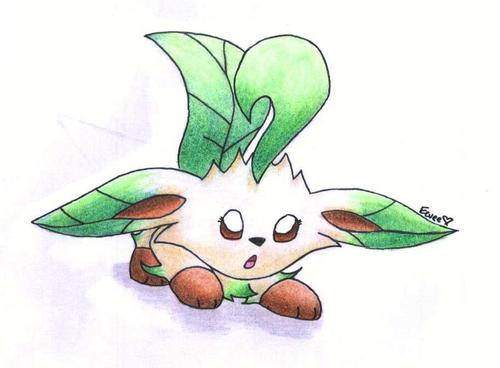 Eevee Evolutions Clan fondo de pantalla titled Leafeon Kitty