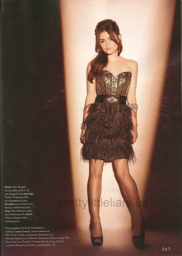 Lucy Hale in Teen Prom Magazine