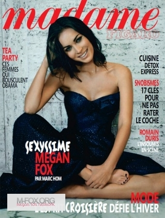 Madame Figaro (France) - January Issue - Megan Fox 341x450