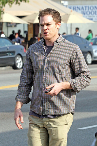 Michael C. Hall wallpaper probably with a business suit and a street called Michael C. Hall Leaves Kings Road Cafe
