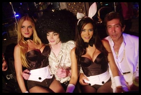 Michael jackson and Playboy bunnies