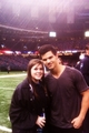 New Pic of Taylor Lautner at Saints Game on January 2nd - twilight-series photo