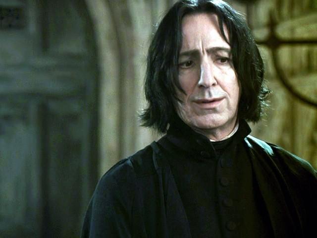 OMG Snape Smiles!