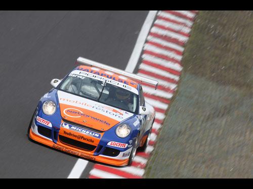 Porsche fond d'écran with a stock car titled PORSCHE 911 GT3 CUP RACING