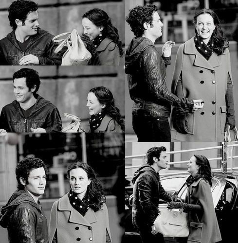 Dan and Blair wallpaper possibly containing a bandsman, dress blues, and regimentals called Penn Badgley & Leighton Meester