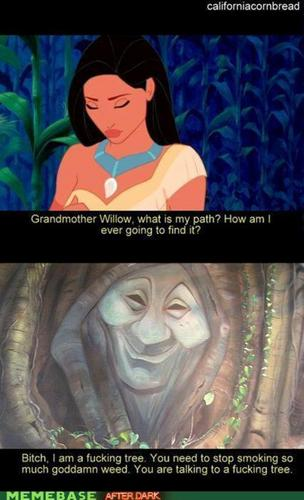 Pocahontas is smokin weed