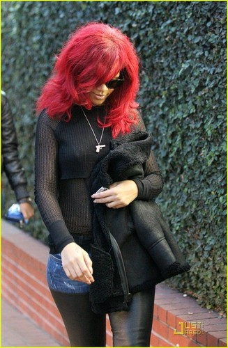 Rihanna out in West Hollywood