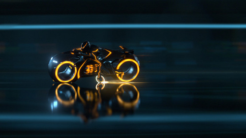 Rinzler lightcycle - tron-legacy Screencap