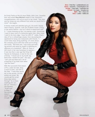 Shay Mitchel in Savvy Magazine
