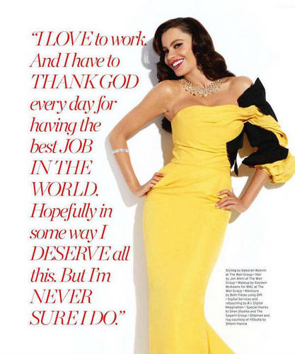 Sofia in Ocean Drive Magazine - January 2011