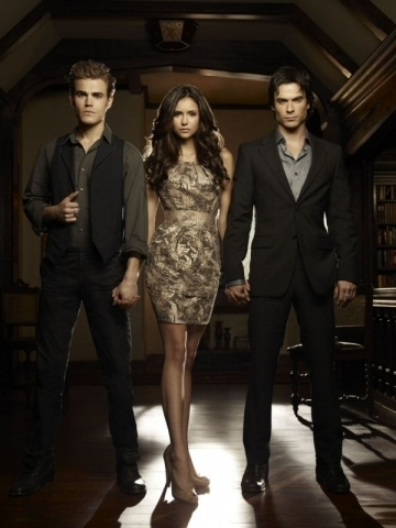 Stefan,Elena and Damon - Season 2