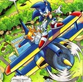 Tails in the Tornado with Sonic - archie-sonic-the-hedgehog photo