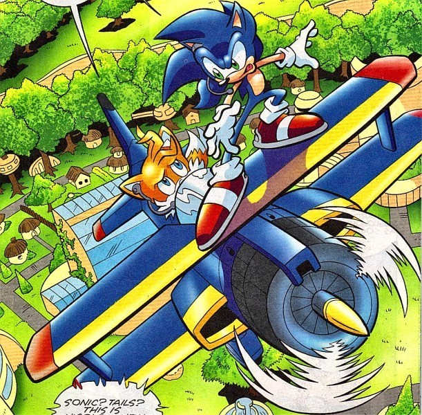 Sonic The Hedgehog Tornado in The Tornado With Sonic