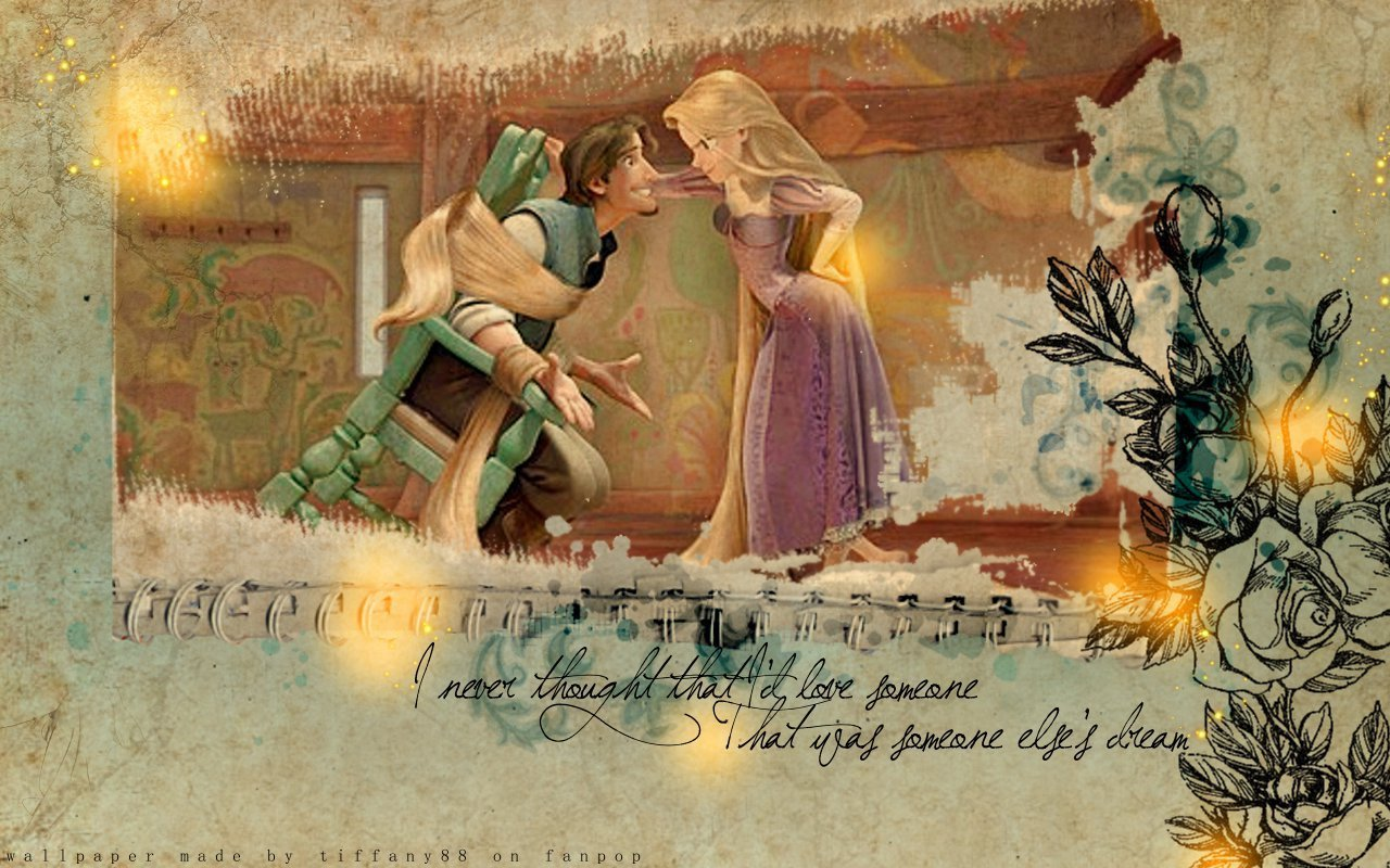 Tangled Rapunzel And Flynn Disney Princess Wallpaper 18262247 Fanpop