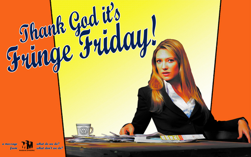 Fringe wallpaper with a newspaper and anime entitled Thank God it's Fringe Friday