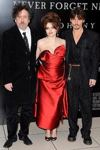 Tim Burton , Helena Bonham Carter and Johnny Depp