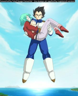dragon ball z wallpaper possibly with animê called Vegeta X Bulma
