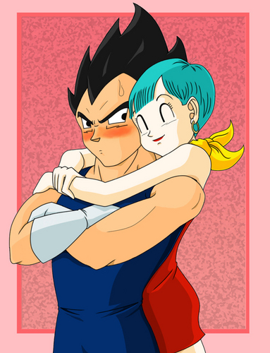 Dragon Ball Z wallpaper possibly containing anime called Vegeta X Bulma