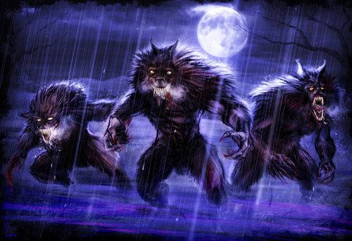 loups garous at night