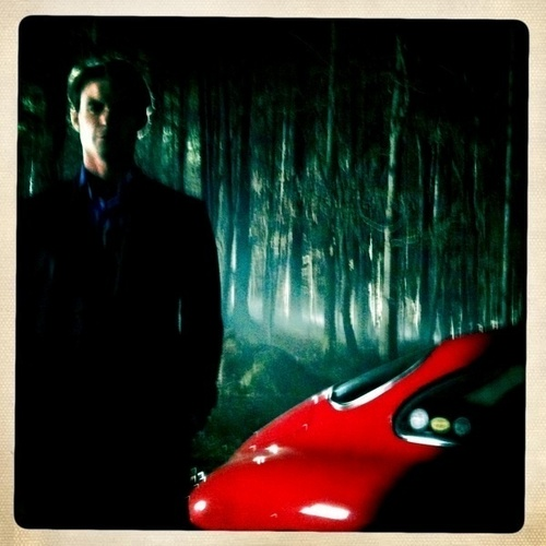 elijah on tvd set