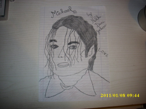 my MJ drawing :))♥ I know that i don't draw him best because i'm only 12 years old♥