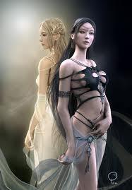 the goddesses of light & darkness