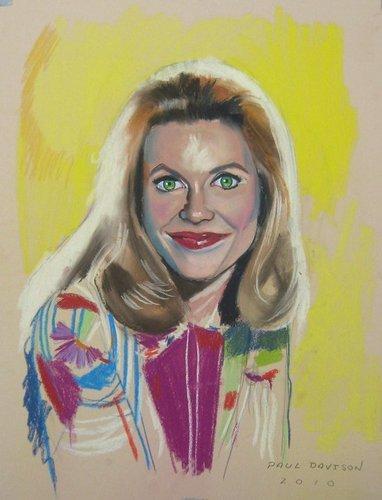 ''Samantha'',pastel on paper سے طرف کی Paul Davison