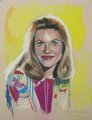 ''Samantha'',pastel on paper by Paul Davison - bewitched fan art