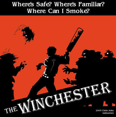 Shaun of the Dead wolpeyper with anime titled ... Winchester