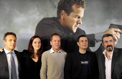 Annie with Kiefer, Carlos, & Jon