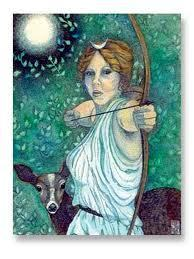 Diana Goddess Of The Hunt And Moon