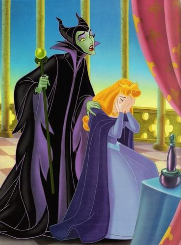 Aurora and Maleficent