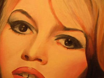 Brigitte Bardot karatasi la kupamba ukuta containing a portrait called BB painting