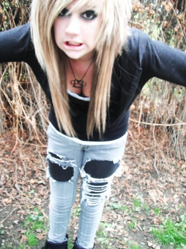 emo girls wallpaper possibly containing a playsuit, a legging, and long trousers entitled BECCA BABYCAKES
