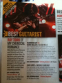 Best Guitarist of 2010 in AP Magazine - ray-toro photo