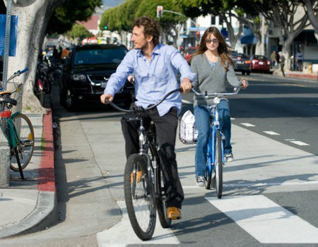 साइकिल से चलना, साइकल चलाना at the Santa Monica Farmers Market [January 9, 2011]