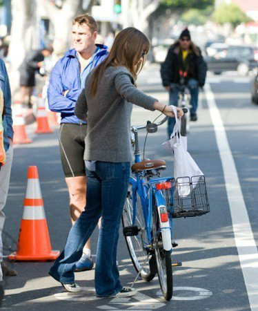 Bicycling at the Santa Monica Farmers Market [January 9, 2011]